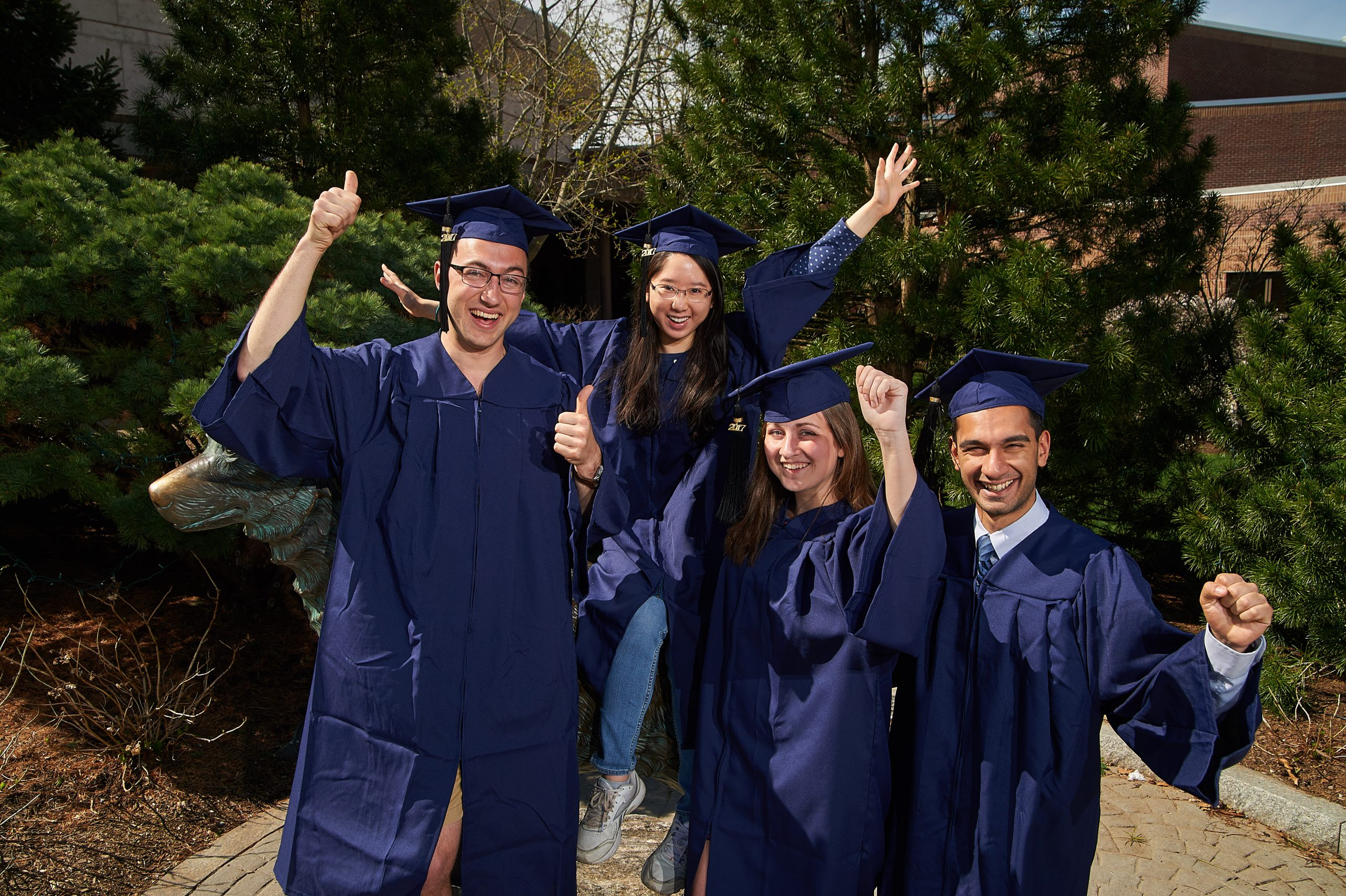 Students in Cap and Gowns together